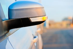 Included in the side mirror turn signal. Included in the  side mirror turn signal Royalty Free Stock Images