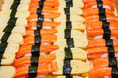 Including sushi Royalty Free Stock Photography