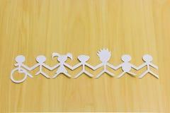 Inclusion sociale Tous unis par une cause simple photo libre de droits