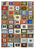 Incluso números de casa Fotografía de archivo