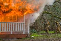 Incêndio da casa Foto de Stock Royalty Free