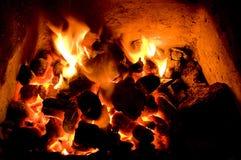 Incêndio de carvão Imagens de Stock Royalty Free