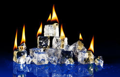 Incêndio e gelo Fotos de Stock Royalty Free