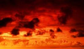Incêndio no céu Imagens de Stock
