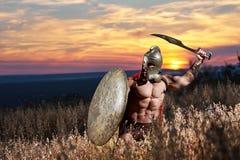 Incognito wojownik lubi antykwarskiego rzymskiego żołnierza obraz royalty free