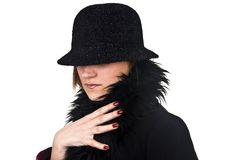 Incognito Woman In Black Stock Photography