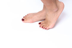 Incognito woman feet. Pedicure concept Royalty Free Stock Photo