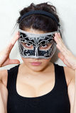 Incognito woman in mask Royalty Free Stock Images