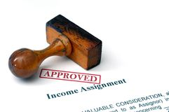 Income assignment - approved Royalty Free Stock Photo