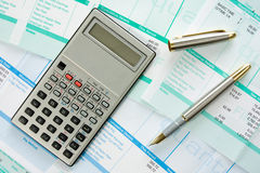 Income calculation Royalty Free Stock Photos
