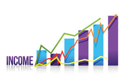 Income colorful graph illustration Stock Photography