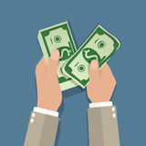 Income concept. flat design Royalty Free Stock Photos