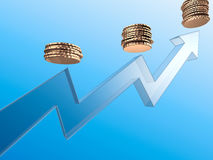 Income growing. 3d render illustration Royalty Free Stock Photo