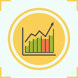 Income growth chart color icon Royalty Free Stock Images