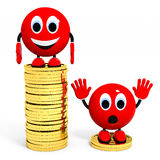 Income. Illustration with 3d character Stock Photography