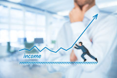 Income increase Stock Photo