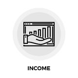 Income Line Icon Stock Photography