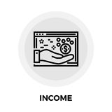 Income Line Icon. Income icon vector. Flat icon isolated on the white background. Editable EPS file. Vector illustration Stock Photo
