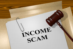 Income Scam - legal concept Royalty Free Stock Images