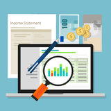 Income statement accounting software money calculator application laptop Royalty Free Stock Images