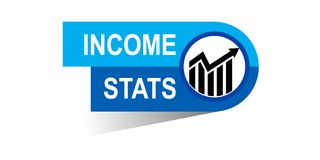 Income stats banner. Icon on isolated white background - vector illustration Royalty Free Stock Photography