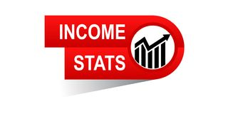 Income stats banner. Icon on isolated white background - vector illustration Royalty Free Stock Image