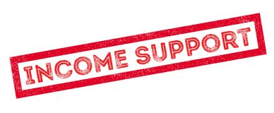 Income Support rubber stamp Stock Image
