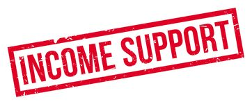 Income Support rubber stamp Royalty Free Stock Image