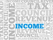 Income Tax abstract Stock Images