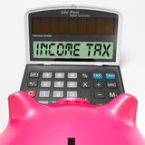 Income Tax Calculator Means Taxable Earnings Stock Photo