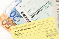 Income tax card Stock Photography