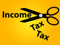 Income tax cut background Stock Image