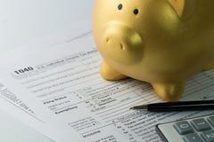Income tax Stock Photos