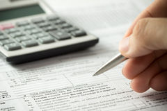 Income tax filling Stock Photos