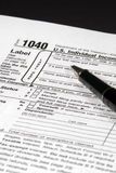 Income Tax Form. Detail view of an Income Tax form about to be completed Royalty Free Stock Image