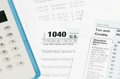1040 income tax form Royalty Free Stock Photography