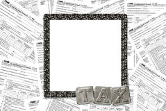 Income tax forms with frame Stock Photos
