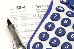 Income Tax Forms Royalty Free Stock Photography