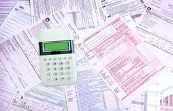 Income Tax Forms stock photography