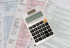 Income Tax Forms stock photos