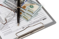 Income Tax Return Form Royalty Free Stock Image