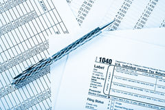 Income tax return Stock Images