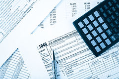 Income tax return Stock Photography