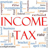 Income Tax Word Cloud concept Stock Photos
