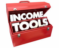 Income Tools Earn More Money Toolbox. 3d Illustration Royalty Free Stock Photos
