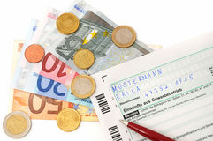 Income from trade firm. German income for tax from wohn trade firm royalty free stock photography