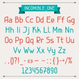 Incomible one classic style font Stock Images
