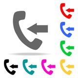 Incoming call sign icons. Elements of human web colored icons. Premium quality graphic design icon. Simple icon for websites, web. Design, mobile app, info stock illustration