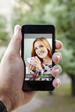 Incoming Call On Smart Phone Stock Photography