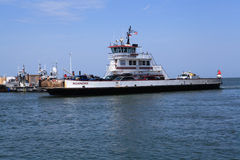 Incoming Ferry Boat at Cape Hatteras NC Terminal Royalty Free Stock Photo